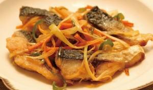 焼きサバと細切り野菜のさっと煮