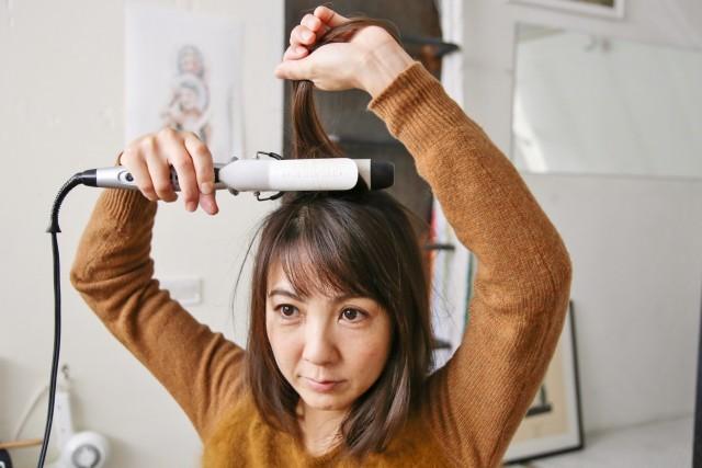 ひし形シルエットの髪型_1