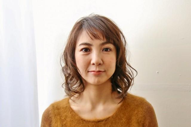 ひし形シルエットの髪型_7