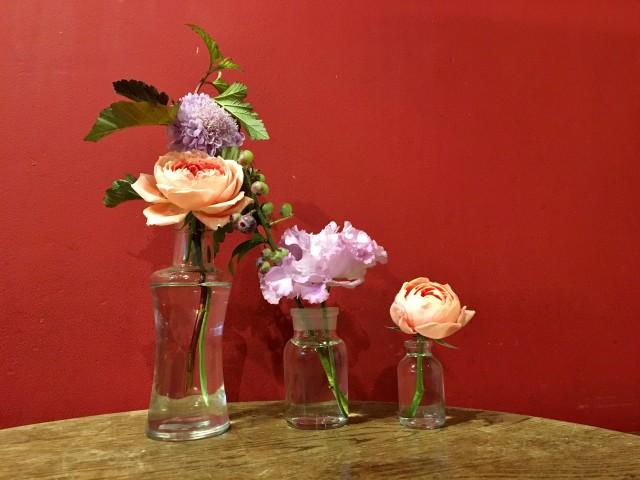 花瓶に入れた花