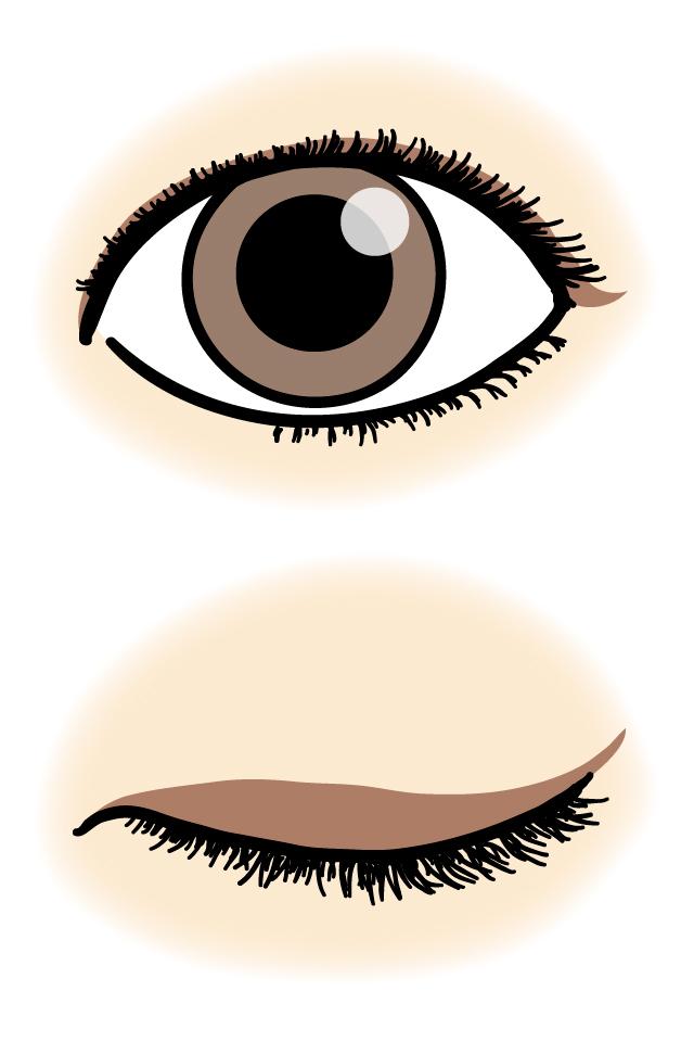 一重の目のアイラインの引き方のコツ