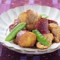 【風邪を予防するレシピ】さつまいもと鶏もも肉の甘酢炒め
