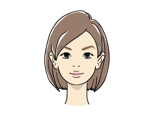 鋭角な眉毛の女性